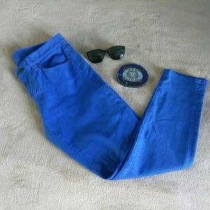 """J. Crew blue """" toothpick """" ankle length jeans 29"""